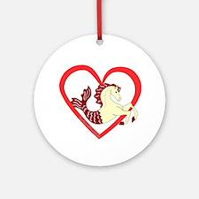 SeaHorse Heart Ornament (Round)
