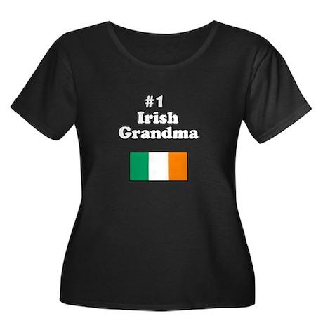 #1 Irish Grandma Women's Plus Size Scoop Neck Dark