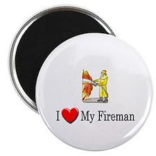 I Love My Fireman Magnet