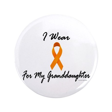 "I Wear Orange For My Granddaughter 1 3.5"" Button"