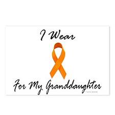 I Wear Orange For My Granddaughter 1 Postcards (Pa
