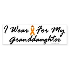 I Wear Orange For My Granddaughter 1 Bumper Sticker