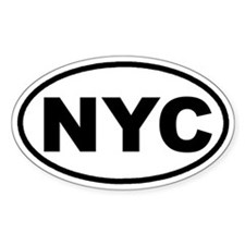 NYC New York City Euro Oval Bumper Stickers