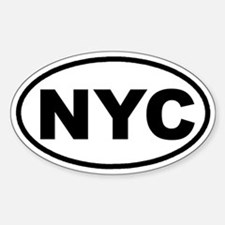 NYC New York City Euro Oval Decal