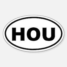 HOU Houston, TX Euro Oval Decal
