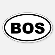 BOS Boston Euro Oval Decal