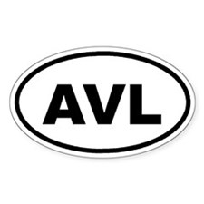 AVL Asheville, NC Euro Oval Decal