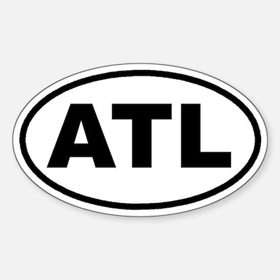 ATL Atlanta, Ga Euro Oval Decal