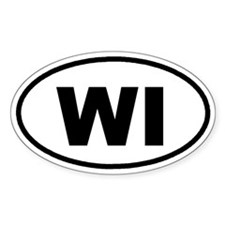 WI Wisconsin Euro Oval Decal