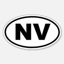 NV Nevada Euro Oval Decal