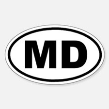 MD Maryland Euro Oval Decal