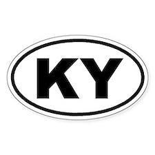 KY Kentucky Euro Oval Decal