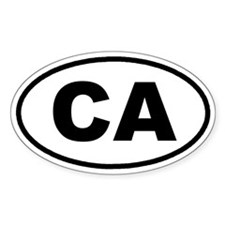 CA California Euro Oval Decal