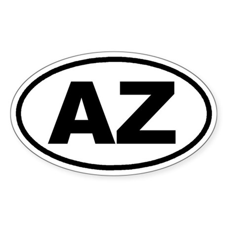 AZ Arizona Euro Oval Sticker