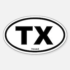 TX Texas Euro Oval Decal