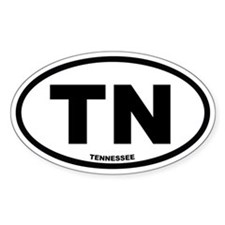 TN Tennessee Euro Oval Decal