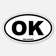 OK Oklahoma Euro Oval Decal