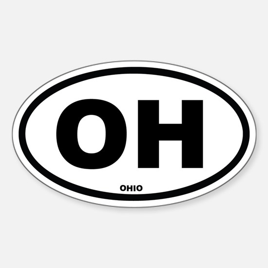 OH Ohio Euro Oval Decal