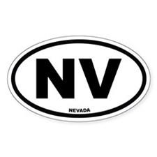 NV Nevada Euro Oval Decal