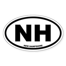 NH New Hampshire Euro Oval Decal