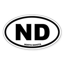 ND North Dakota Euro Oval Decal