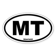 MT Montana Euro Oval Decal