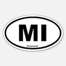 MI Michigan Euro Oval Decal