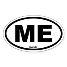 ME Maine Euro Oval Decal