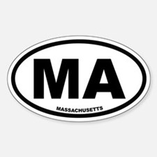 MA Massachusetts Euro Oval Decal