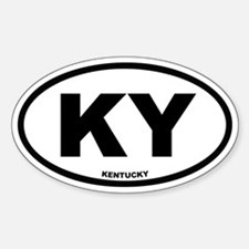 KY Kentucky Euro Oval Decal