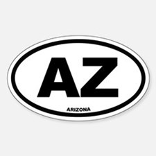 AZ Arizona Euro Oval Decal