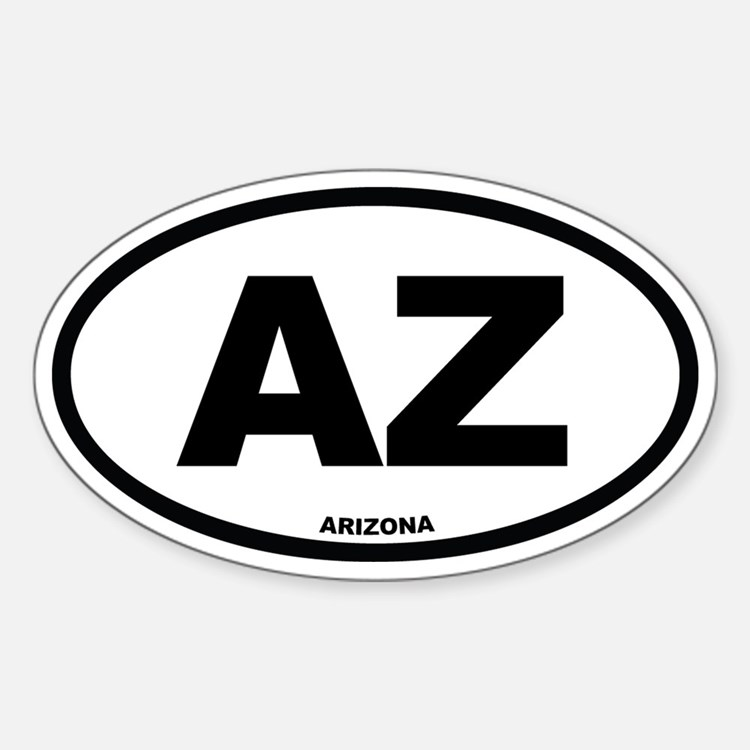 AZ Arizona Euro Oval Decal