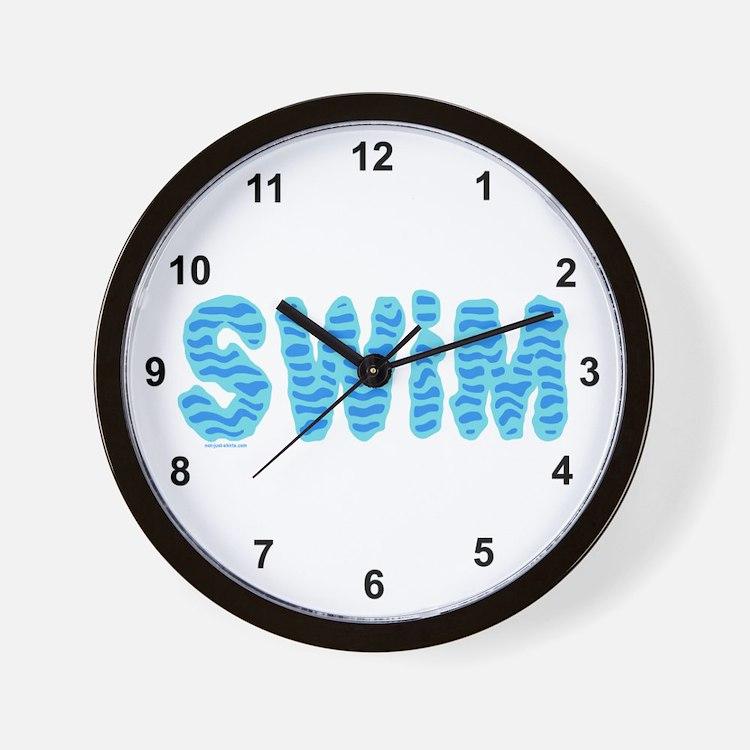 Wavy Swim Wall Clock