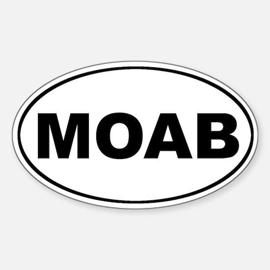 MOAB Mountain Biking Oval Decal