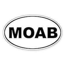 MOAB Mountain Biking Oval Stickers