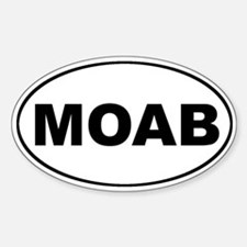 MOAB Mountain Biking Oval Stickers
