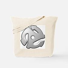 45 RPM Adapter DJ Logo Tote Bag