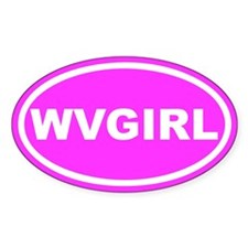 WV GIRL West Virginia Girl Pink Oval Decal