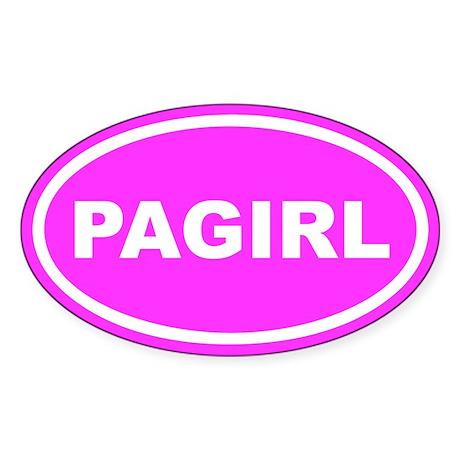 PA GIRL Pennsylvania Pink Euro Oval Sticker