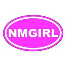 NM GIRL New Mexico Pink Euro Oval Decal