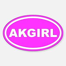 AK GIRL Alaska Euro Pink Oval Decal