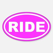RIDE Pink Euro Oval Decal