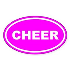 CHEER Pink Oval Decal