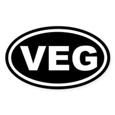 VEG Black Euro Oval Decal