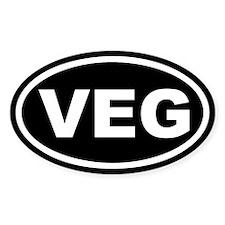 VEG Black Euro Oval Decal