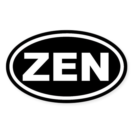 ZEN Black Euro Oval Sticker