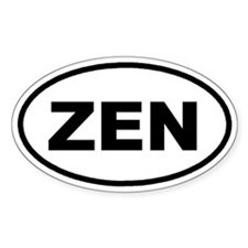 ZEN Euro Oval Decal