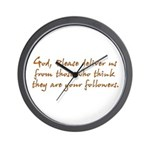God, Deliver Us Wall Clock