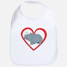 Rhino Heart Bib
