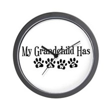 My Grandchild Has Paws Wall Clock